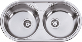 Nerezový dřez Sinks DUETO 847 V 0,6mm texturovaný RDDUT8474446V