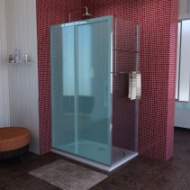 Polysan LUCIS LINE sprchová boční stěna 1000mm, čiré sklo DL3515