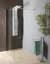 Aqualine WALK-IN zástěna jednodílná k instalaci na zeď, 900x1900 mm, sklo čiré WI091