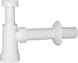 Sapho Umyvadlový sifon 1'1/4, odpad 40 mm, bílá CV1009
