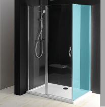 Gelco ONE sprchové dveře s pevnou částí 1000 mm, čiré sklo GO4810