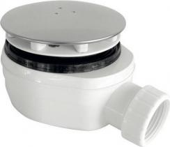 Sapho Vaničkový sifon, průměr otvoru 90 mm DN40, nízký, krytka chrom EWCN940