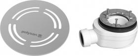 Polysan FLEXIA vaničkový sifon, průměr 90mm, DN40, kulatá krytka nerez 91412