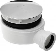 Sapho Vaničkový sifon, průměr otvoru 90 mm, DN40, extra nízký, krytka leštěná nerez SE940