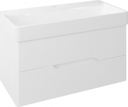 Sapho MEDIENA umyvadlová skříňka 96, 5x50, 5x48, 5cm, bílá mat/bílá mat MD100