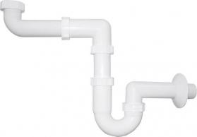 Bruckner Umyvadlový sifon šetřící místo 1'1/4 odpad 40 mm, bílá 151.129.0