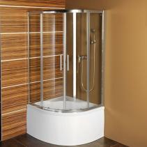 Polysan SELMA čtvrtkruhová sprchová zástěna 900x900x1500, čiré sklo MD2515
