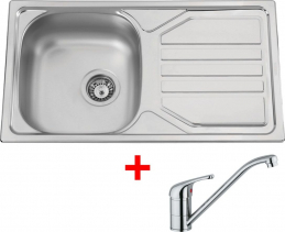 Nerezový dřez Sinks OKIO 780 V+VENTO 4 OK78VVE4CL