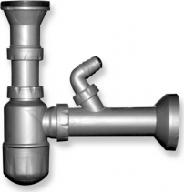 Novaservis Sifon dřezový otvor 49mm bez přepadu plast NSP45