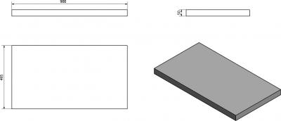 Sapho AVICE deska 90x50cm, ořech rustik AV093