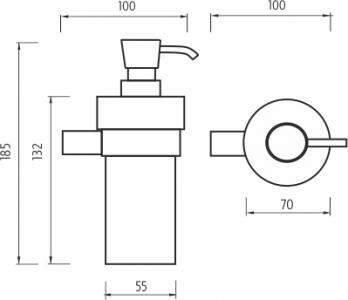 Nimco Bormo Dávkovač tekutého mýdla BR 11031W-26