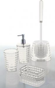 Aqualine GLADY WC štětka na postavení, čirá GL3300