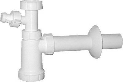 Sapho Umyvadlový sifon s odbočkou 1'1/4 odpad 40 mm, bílá CV1010
