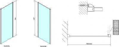 Polysan Lucis Line obdélníkový sprchový kout 1500x800mm L/P varianta DL4215DL3315