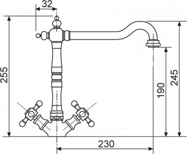 Sinks RETRO 2000 lesklá AVRT200CL