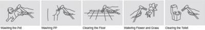 Sapho RHAPSODY stojánková umyvadlová baterie s ruční bidetovou sprškou, chrom 1209-09
