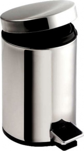 Aqualine SIMPLE LINE odpadkový koš kulatý 5l, leštěná nerez 27105