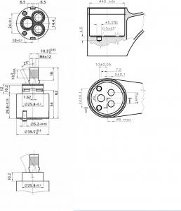 Sapho Kartuše KEROX, průměr 40mm, nízká MI40N