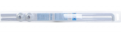 Aqualine Závěsová tyč rohová 90x90 cm, hliník, bílá AC9090