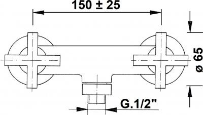 Reitano Rubinetteria AXIA nástěnná sprchová baterie, chrom 586