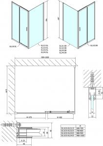 Polysan Easy Line obdélníková zástěna 1000x800mm, čiré sklo EL1015EL3215