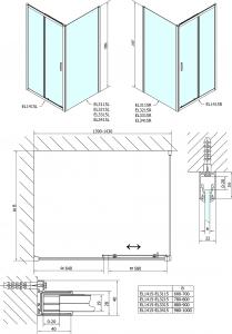 Polysan Easy Line obdélníkový sprchový kout 1400x700mm L/P varianta EL1415EL3115