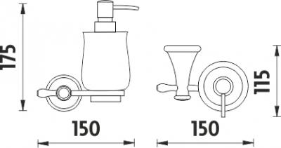 Nimco Lada staroměď Dávkovač tekutého mýdla LA 19031K-80