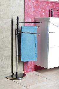 Aqualine HIBISCUS stojan s držákem ručníků, chrom HI31