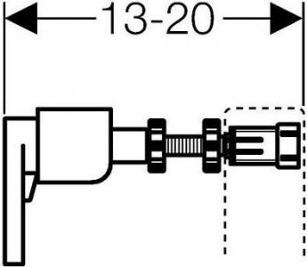 Geberit GEBERIT DUOFIX souprava pro ukotvení do stěny pro jednotlivou montáž 111.815.00.1