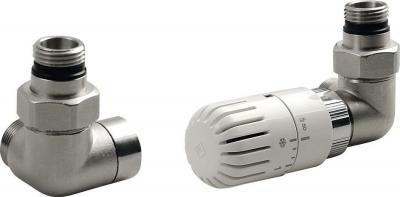 Aqualine ECO připojovací sada termostatická PRAVÁ, nikl/bílá CP9912R