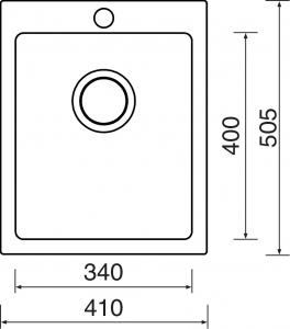 Sinks CERAM 410 Bílá MP68312