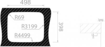 Nerezový dřez Sinks BELÉM 540 V 0,8mm MP68140