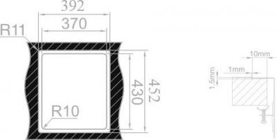 Nerezový dřez Sinks BOX 390 MP68144