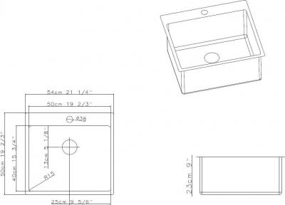 Nerezový dřez Sinks BLOCKER 540 V 1mm kartáčovaný MP68292