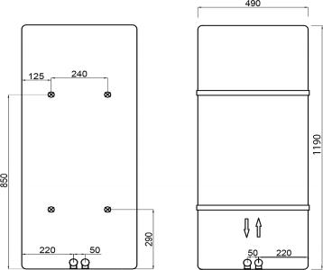 Sapho TABELLA otopné těleso 490/1190, černá mat MI1147