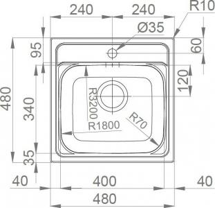 Nerezový dřez Sinks MANAUS 480 V 0,7mm MP177893