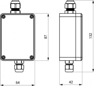 Sapho Napájecí zdroj  230V / 24V DC (1 baterie / splachovač urinálu) PS10T