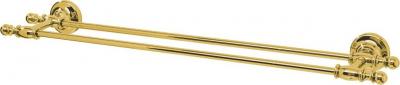 Sapho PERLA dvojitý držák ručníků, 645 mm, zlato PE0125