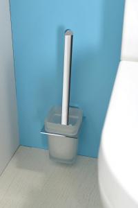 Aqualine APOLLO WC štětka, mléčné sklo 1416-08