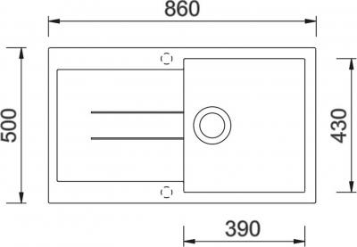 Granitový dřez Sinks AMANDA 860 Metalblack TLAM86050074