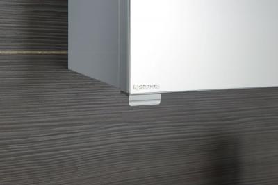 Sapho RIWA galerka s LED osvětlením, 50x70x17 cm, dub stříbrný RW054
