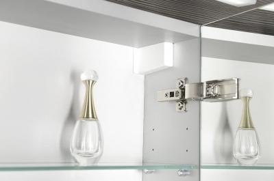Sapho MIRRÓ galerka s LED osvětlením, 90x70x15cm, stříbrná RC090