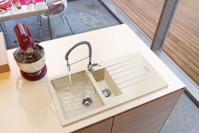 Granitový dřez Sinks PERFECTO 1000.1 Sahara ACRPE100500150