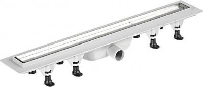 Polysan TILE plastový sprchový kanálek s nerezovým roštem pro dlažbu, 920x123x68 mm 72839