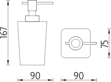 Nimco Eli Dávkovač tekutého mýdla EL 3031-45