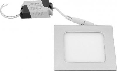Sapho START LED podhledové svítidlo, 6W, 230V, 120x120mm, denní bílá, 430lm, stříbrná LDD464