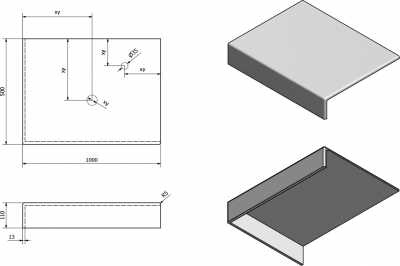 Sapho TAILOR rockstone deska 100x50 cm, provedení límce L TR100L