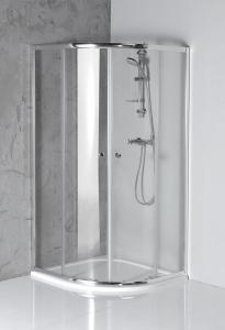 Aqualine ARLETA čtvrtkruhová sprchová zástěna 800x800mm, čiré sklo HLS800