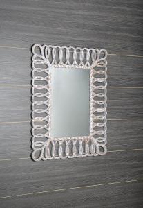 Sapho SEVILLA zrcadlo v rámu, 80x120cm, bílá IN236