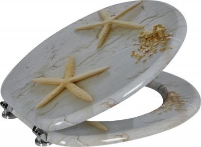 Aqualine FUNNY WC sedátko s potiskem mořská hvězda, bílá HY1185